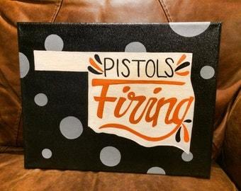 OSU Pistols Firing Canvas