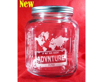 Travel, Vacation, Adventure Fund Jar