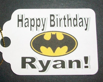 Batman Party Tags