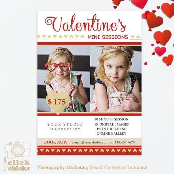 Valentines Day Mini Session Template Photography Marketing