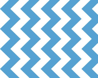 Blue Medium Chevron by Riley Blake