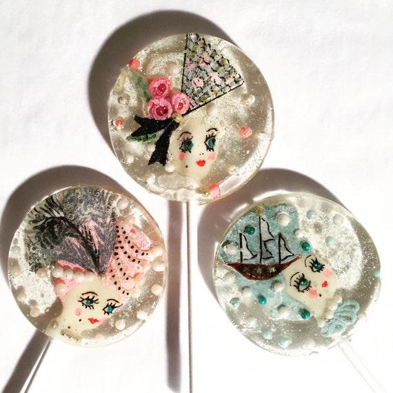 3 Rose Champagne Marie Antoinette Tea Party Lollipops