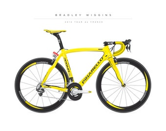 Bike poster of the Bradley Wiggins Team SKY Pinarello from 2012