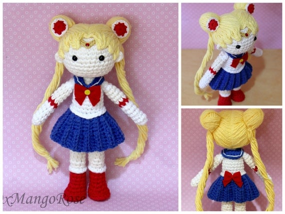 Amigurumi Sailor Moon : Sailor Moon Plush Amigurumi Doll