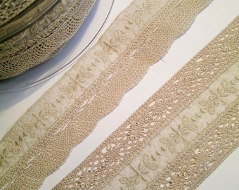 1 m delicate french cotton lace