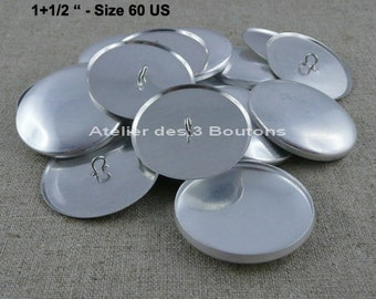 """10 Cover Buttons 1.1/2"""" (Size 60)"""