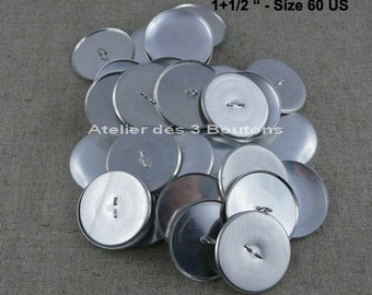 "25 Cover Buttons 1.1/2"" (Size 60)"