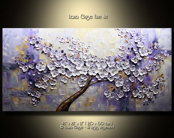 Midnight Sun Made-to-Order ORIGINAL ABSTRACT Tree Painting Modern Textured Palette Knife by Lana Guise