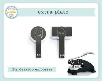 Embosser Plate - Extra Plate to Use with Our Desktop Embosser - Embossing Seal Stamp