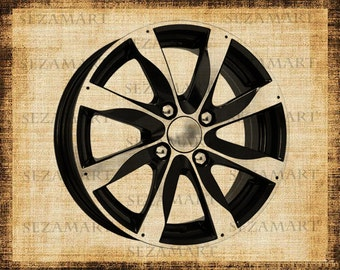 Wheel disc INSTANT DOWNLOAD - Digital Collage Sheet, Scrapbooking, Burlap Fabric Transfer  Download and Print, BUY 2 get 1 free