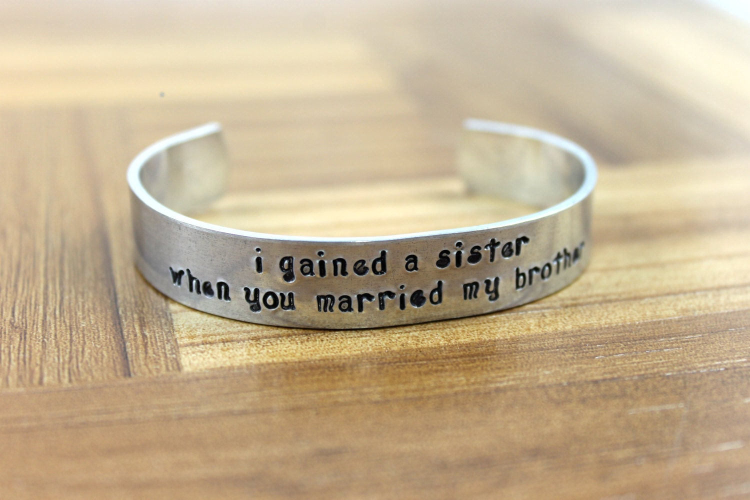 Wedding Gift Ideas For Brother In Law : Sister-in-Law Gift / I gained a sister when you married