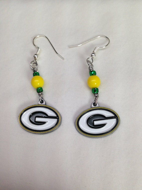 packers earrings items similar to earrings green bay packers 2 inches 9527