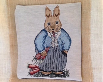 Beatrix Potter's Peter Rabbit Pillow Cover Tapestry 12 x 16