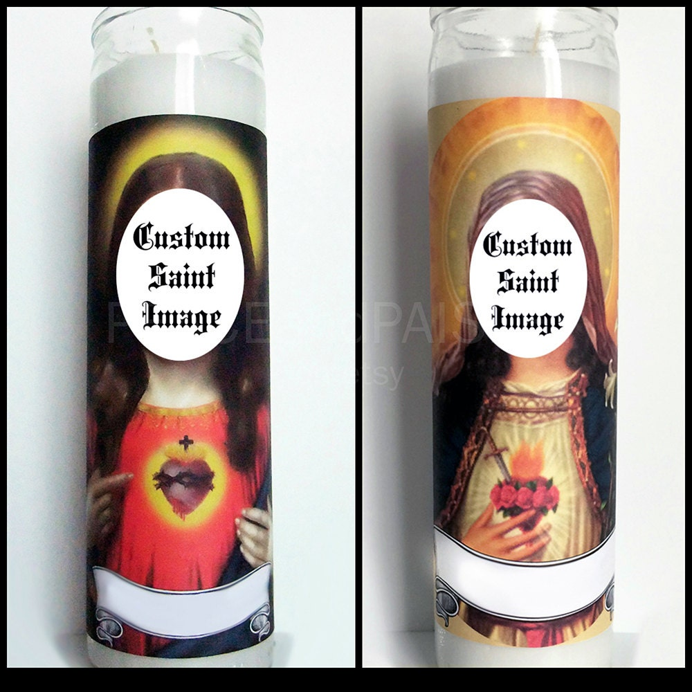 Custom Prayer Candle Saint Of Your Choice Pop Culture
