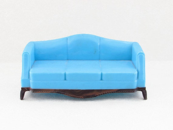 Vintage Plasco Dollhouse Furniture Sofa Plastic By Foxlanevintage