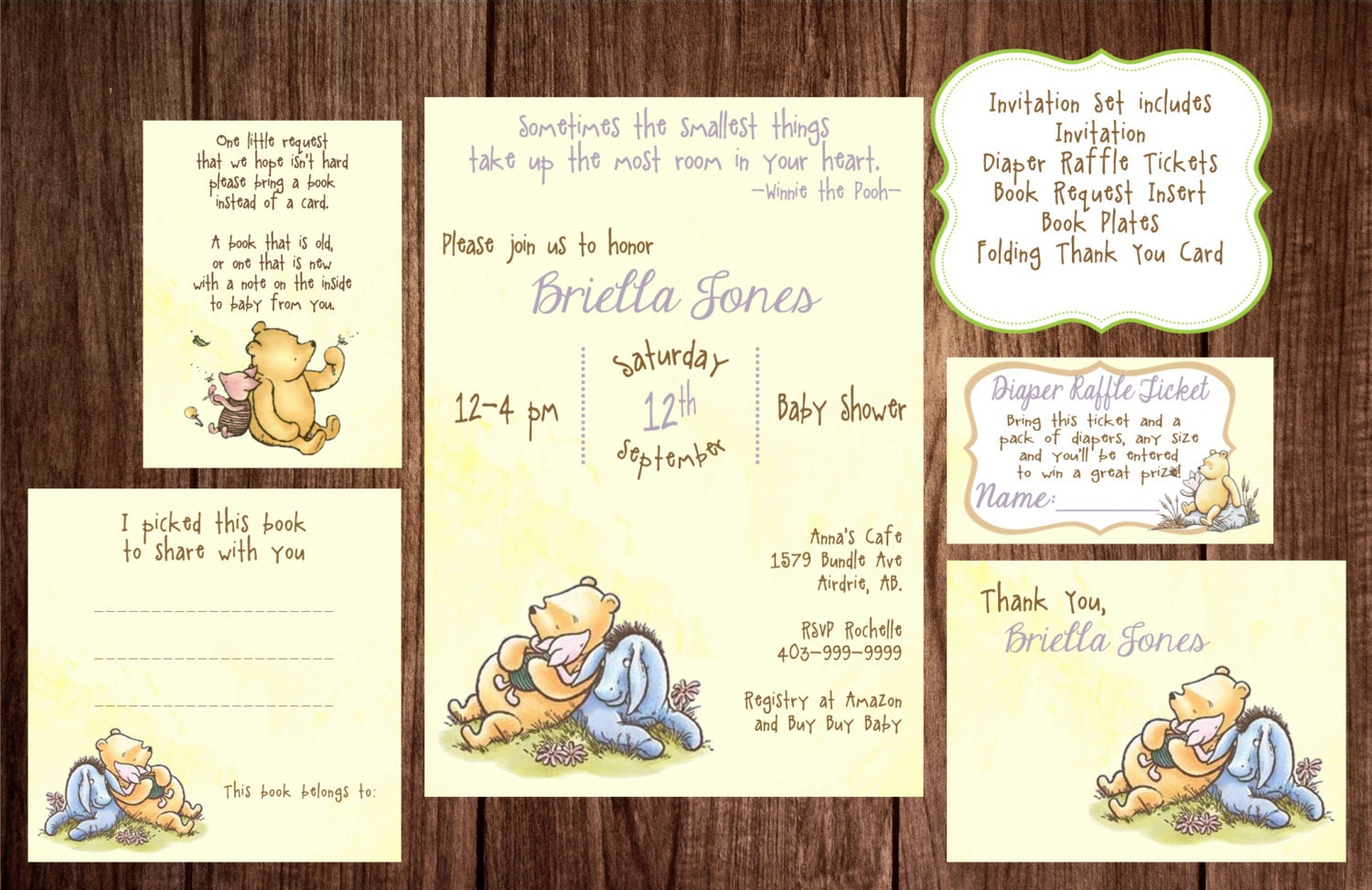 Printable Winnie The Pooh Baby Shower Story Book Baby Shower - Birthday invitation templates winnie pooh