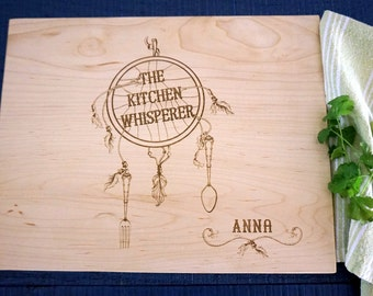 Dream catcher Cutting Board Personalized Wedding Present Bridal Shower Gift Anniversary Gift Chef Present