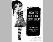 How to open an Etsy shop - the kind that really sells stuff, creative book, art zines.