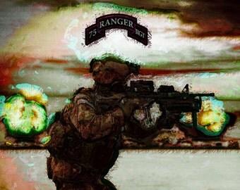 Army Rangers Art Poster