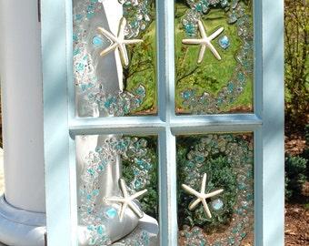 Blue 4 Pane window