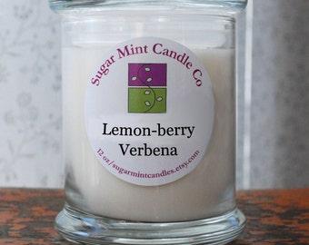 Lemon-berry Verbena Soy Candle - 12 oz