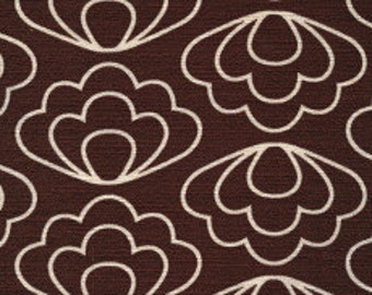 Ripple in Brown (Organic Bark Cloth Fabric) by Jessica Jones from the Time Warp collection for Cloud 9 Fabrics