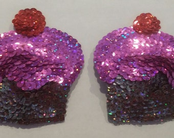 Cupcake Pasties - Sequin Design