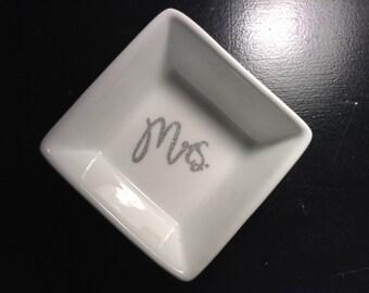 Personalized Ceramic Jewelry Dish