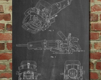 Plate Joiner Patent Poster, Tool Art, Garage Art, Mens Gifts, Man Cave, Woodworking Tools, PP989