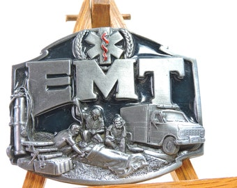 Vintage belt buckle made for EMT collectors