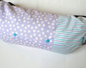BABY CARRIER BAG--For Ergo Baby,Tula,Mei Tai,Beco,Boba,Manduca,Storage of Baby Carrier,Sack Bag,Reversible,Case,Purple White Dots,Stripes