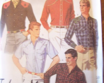 McCalls 2053  Size 44 mens UNCUT  sewing pattern, shirt, crafts, supplies