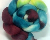 Polwarth Roving, hand painted, wool roving, 23 micron, felting, spinning, merino top