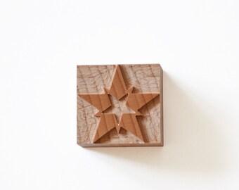 Letterpress Chromatic Stars No. 04 wood type - 5 pieces