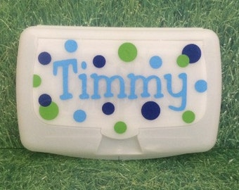 Baby Wipes Case Container Personalized Name Nursery