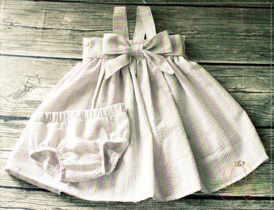 Baby Girl Dress Seersucker Dress Easter Dress Holiday