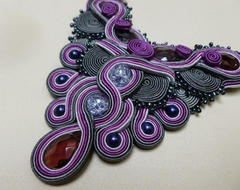 Royal Jewels - soutache necklace