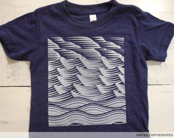 Sky, mountains and water graphic .American Apparel. Sweet toddler T-shirt.