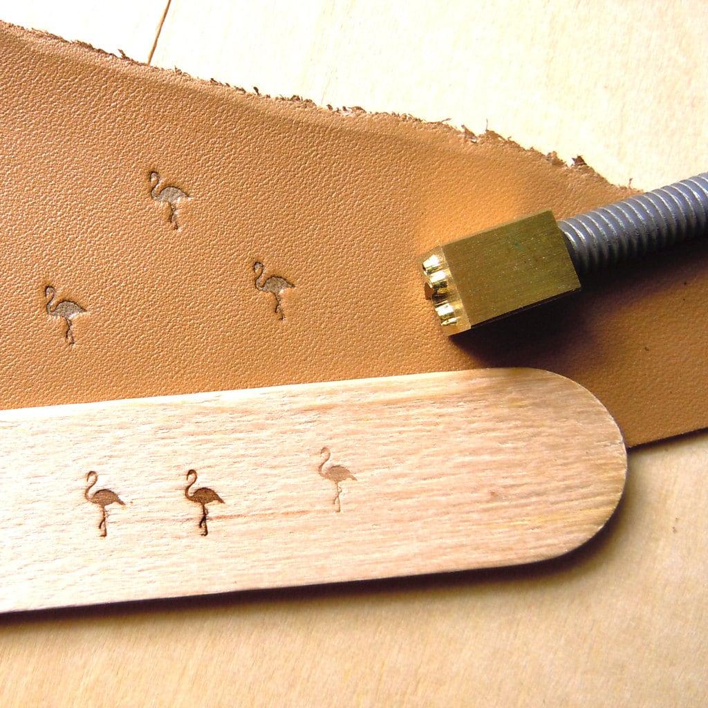 Diy Heat Embossing Leather: Custom Flamingo Heating Branding Iron Leather Stamp Wood