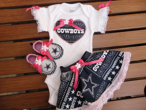 NFL Dallas Cowboys 3 Piece Tailgating Outfit Matching Booties