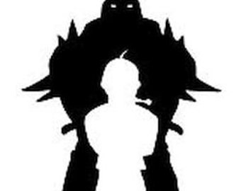 Personalized Fullmetal Alchemist Elrich Brothers Anime Decal Sticker