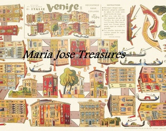 Vintage Venice Reproduction Paper Doll Cut Outs - Digital Download