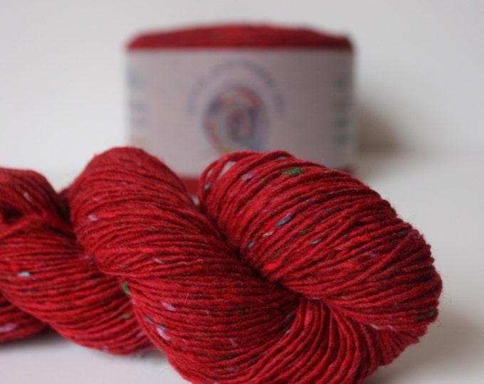 Spinning Yarns Weaving Tales - Tirchonaill 567 Carnival Red 100% Merino for Knitting, Crochet, Warp & Weft