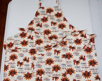 Kids turkey apron,  Size 3-4,