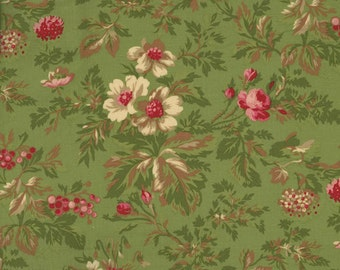 RJR Fabrics Robyn Pandolph Incarnadine 1994 03 Holly on Green Yardage