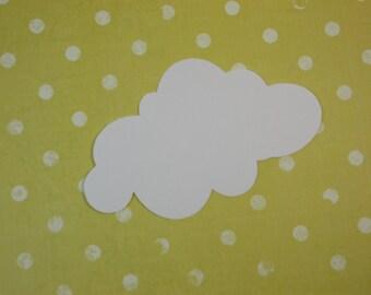 "Large Cloud Cutouts, White Cloud Die Cuts, 4"" x 2.5"" Party Decoration, DIY Crafts, 30 Ct."