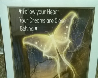 Butterfly Inspirational Photo Frame