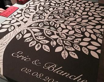 """Wedding Guest Book Alternative - The Dream Oak - A Victoria Rossi Design - 100-300 Guest Sign In - Canvas or Print - 24x36"""" -"""