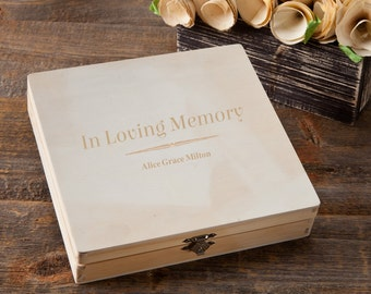 Personalized Memorial Keepsake Box - Engraved Memorial Box - In Loving Memory Box - GC1216