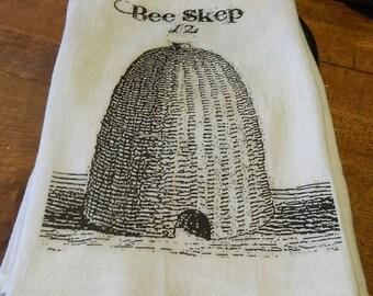 Bee Skep Tea Towel - Cotton Kitchen Flour Sack Tea Towel